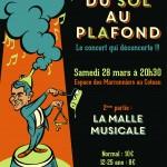 Concert du 28 mars 2015 : DU SOL AU PLAFOND